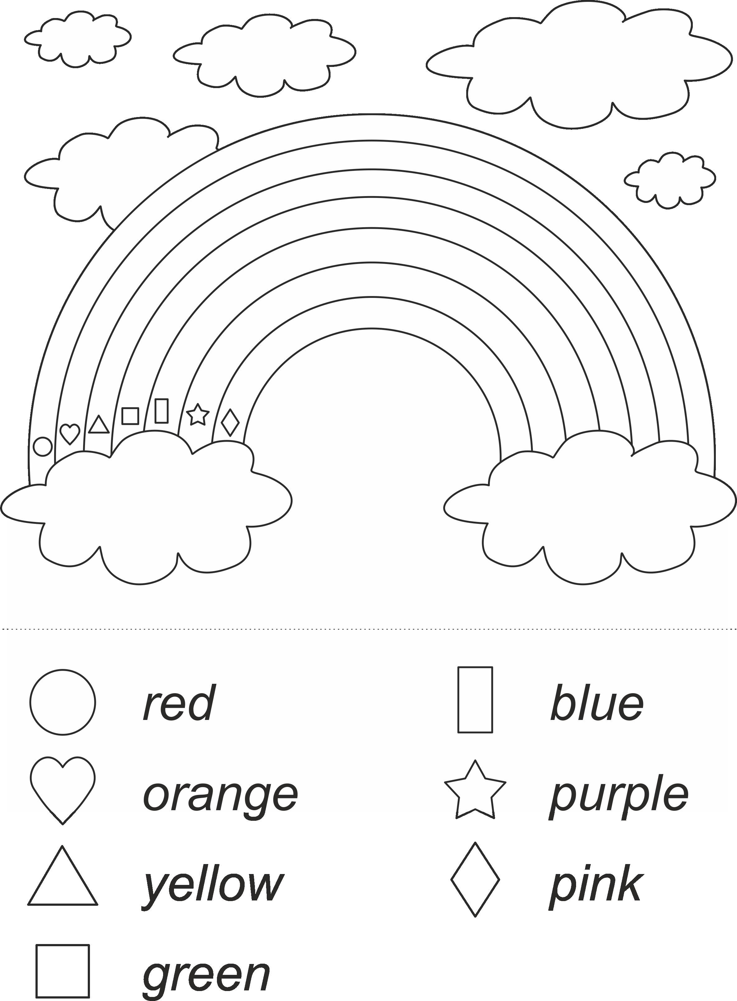 Rainbow Shape Puzzle Matematika English Time Pro Ucitele